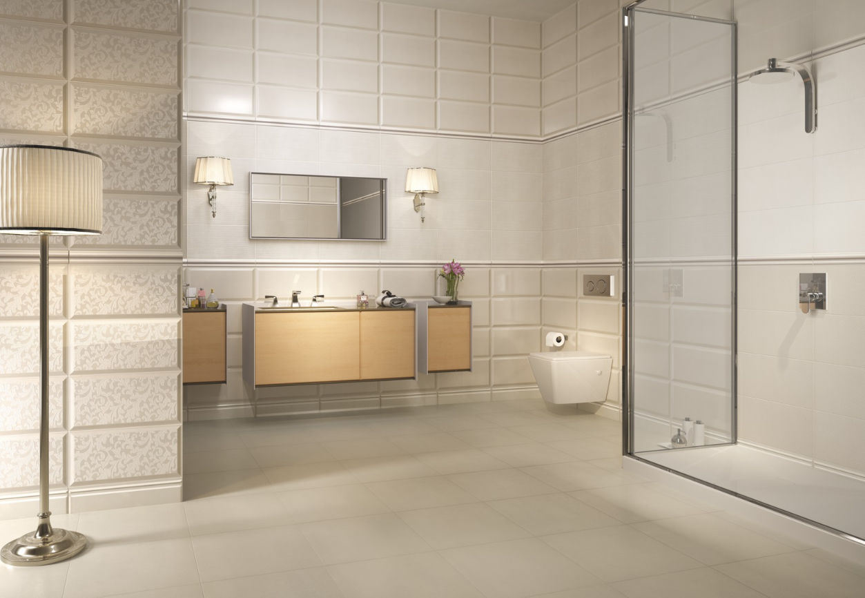 Pearl bathroom tiles - Bathroom Tile Floor Ceramic 3d Bridal Collection Pearl