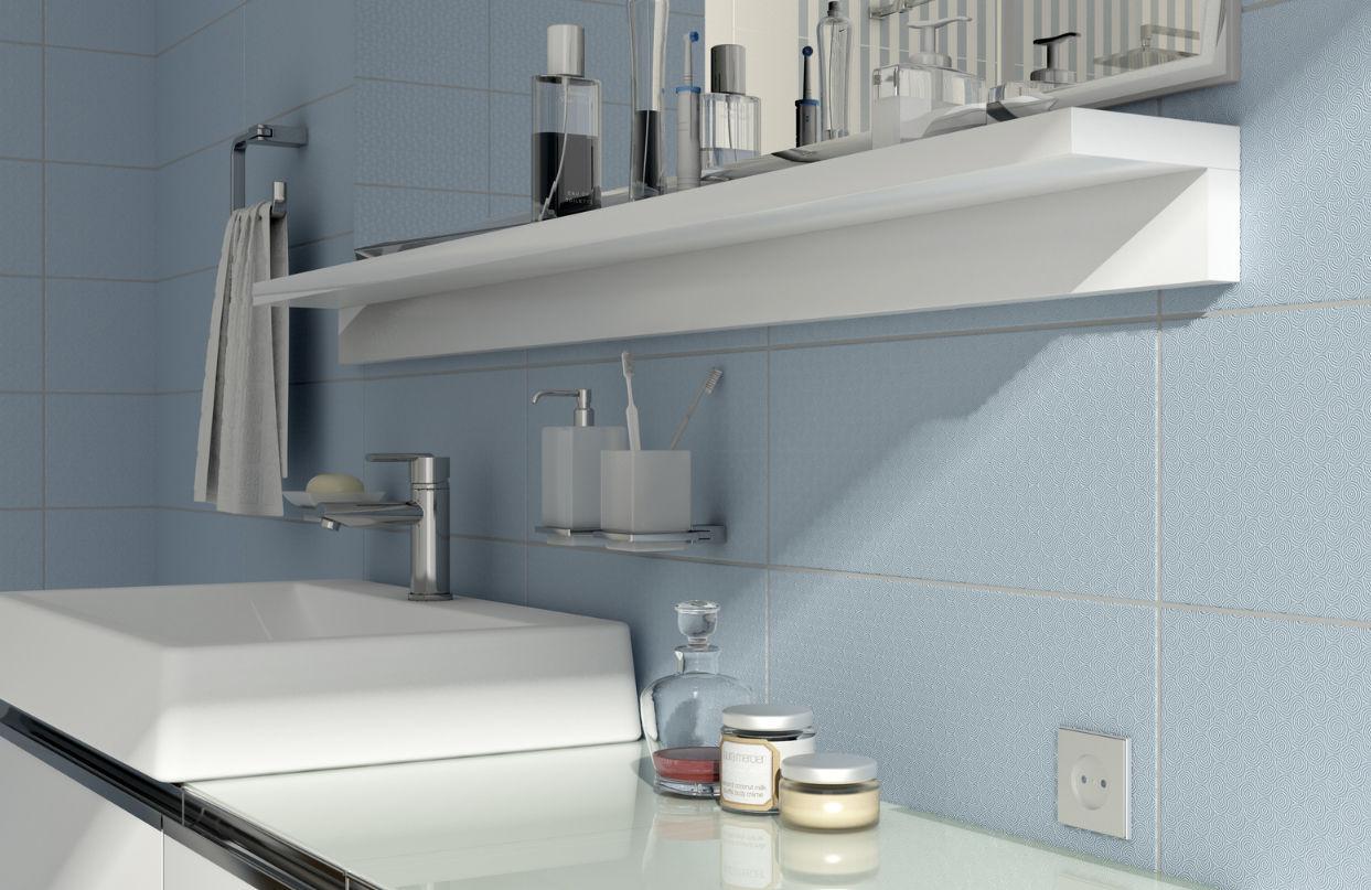 Bathroom tile / floor / ceramic / polished - TINGA - Kale