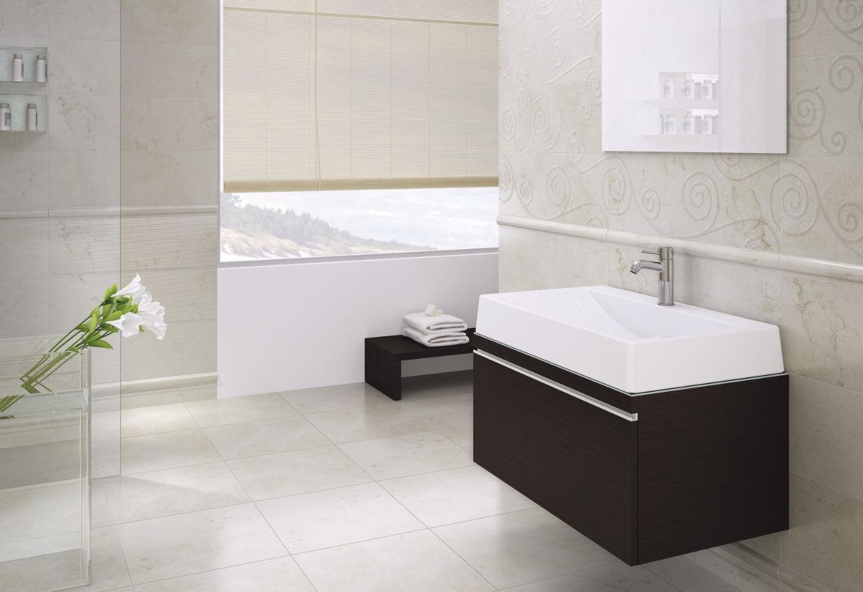Bathroom tile / floor / ceramic / 3D - MARFIL - Kale