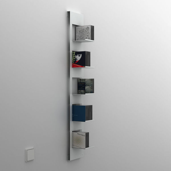 Wall-mounted shelf / contemporary / metal / for CDs - 3-CO design