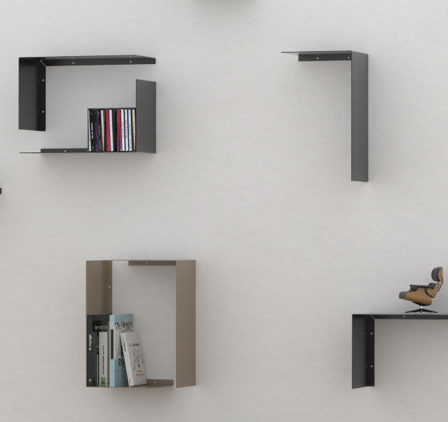 Wall-mounted shelf / contemporary / metal - LG - 3-CO design