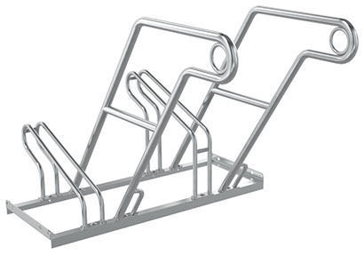 galvanized steel bike rack for public spaces 2600 wsm walter  galvanized steel bike rack for public spaces