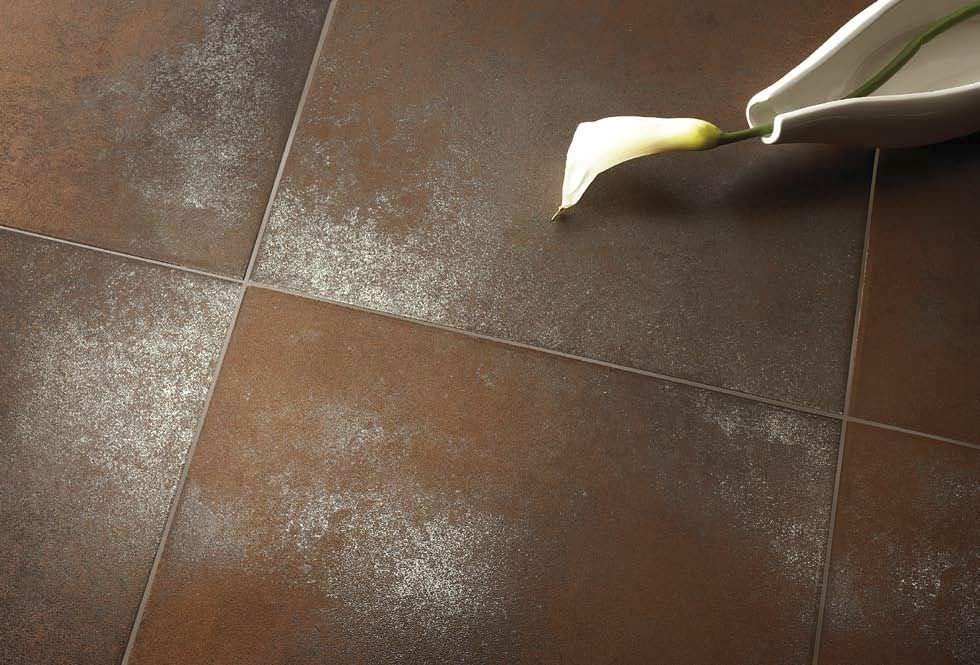 Indoor Tile Floor Porcelain Stoneware Polished Metalis