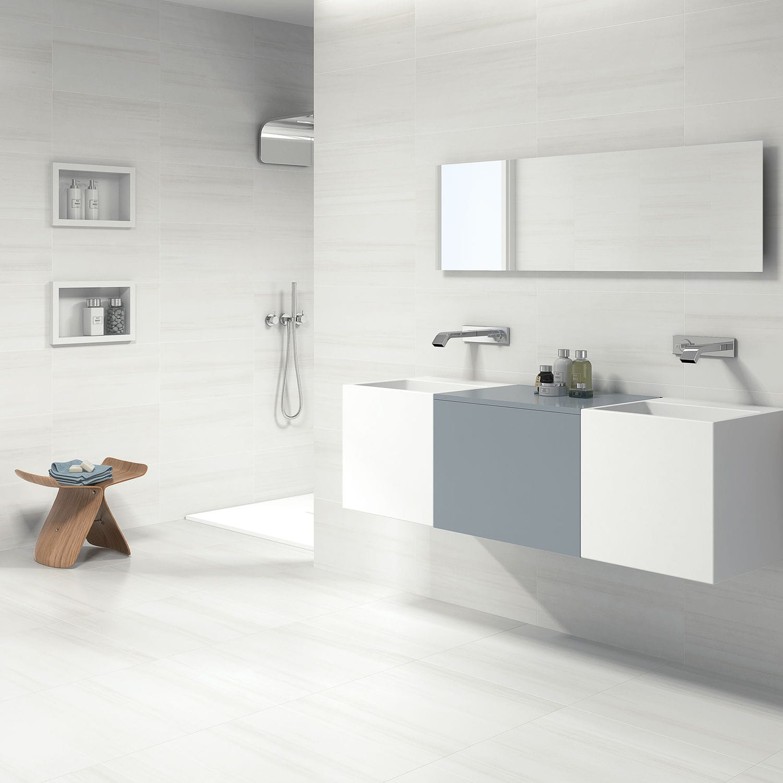 Indoor tile / wall / floor / porcelain stoneware - BIANCO LASA - Azulev
