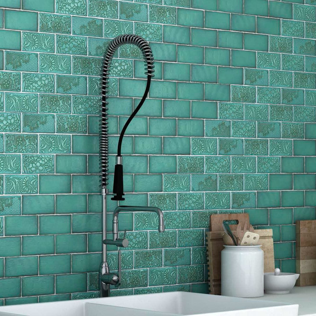 Bathroom tile / kitchen / wall / ceramic - FEELING - CEVICA