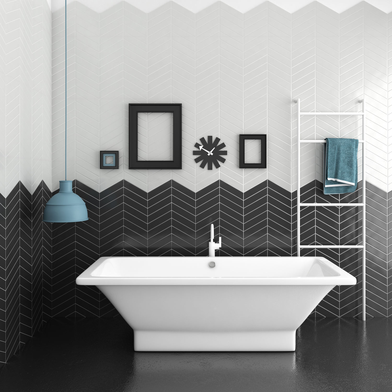 Bathroom tile / kitchen / wall / ceramic - CHEVRON - CEVICA