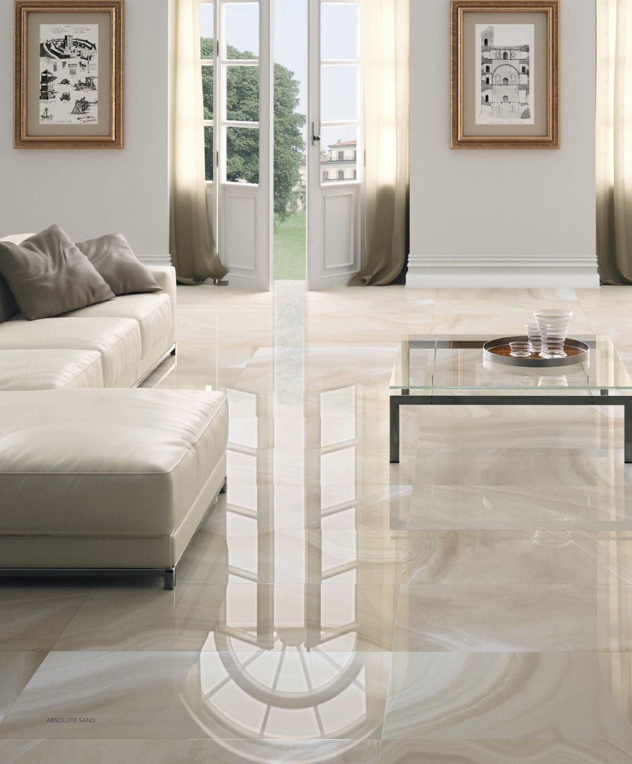 Indoor Tile Floor Porcelain Stoneware Victorian Pattern High Gloss Absolute