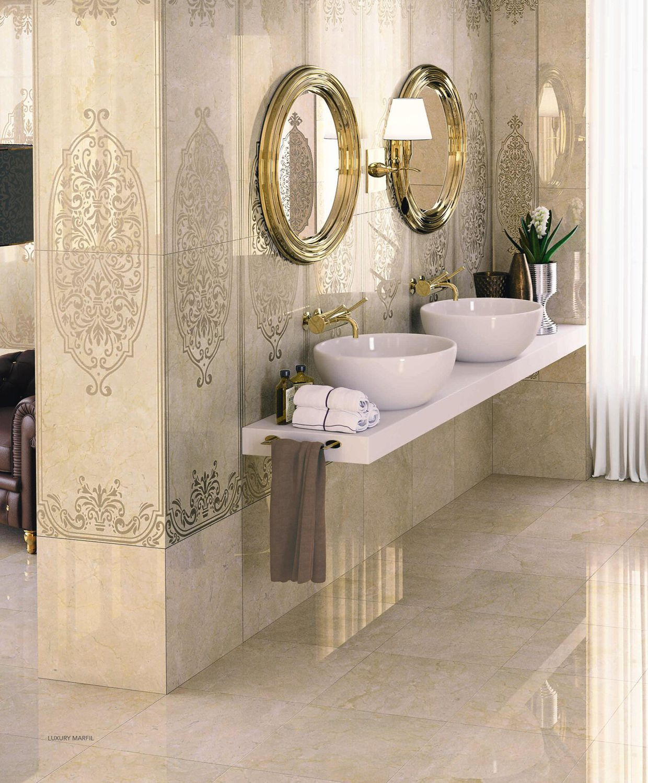 Indoor Tile Bathroom Floor Porcelain Stoneware High Gloss