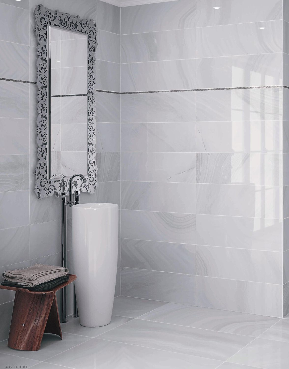 Bathroom tile / floor / ceramic / wave pattern - ABSOLUTE - Ceracasa ...