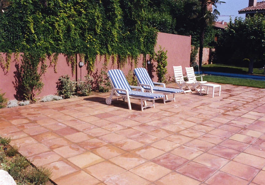 Outdoor tile / for floors / terracotta / aged - MANUAL - Ceramica Elias