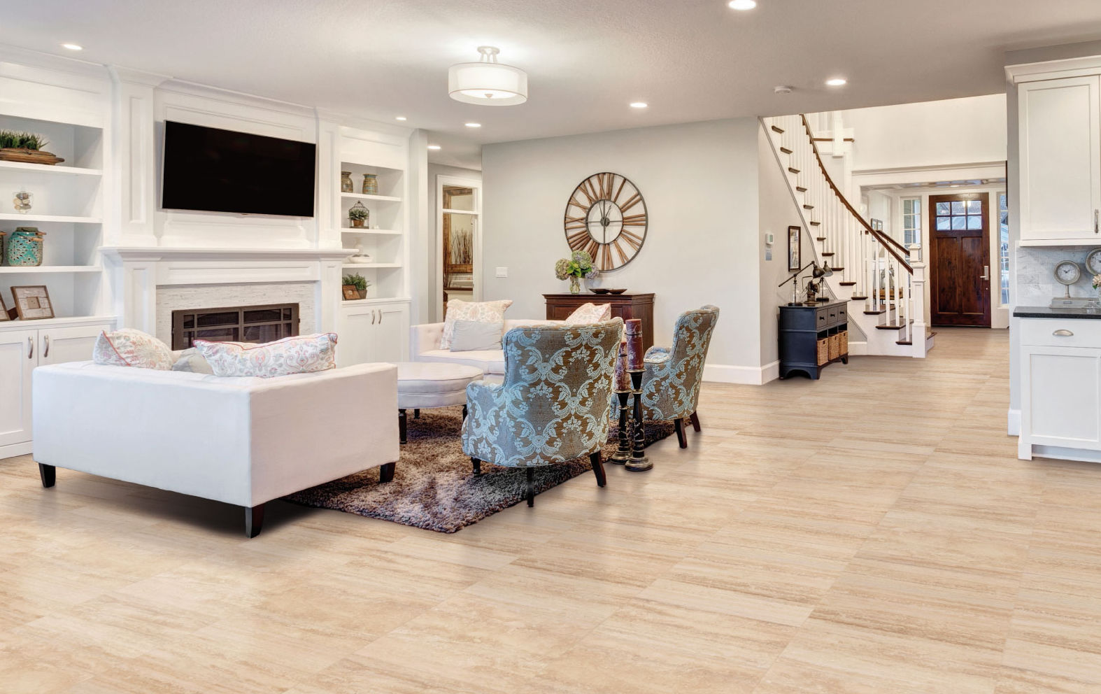 living room tile / floor / porcelain stoneware / high-gloss