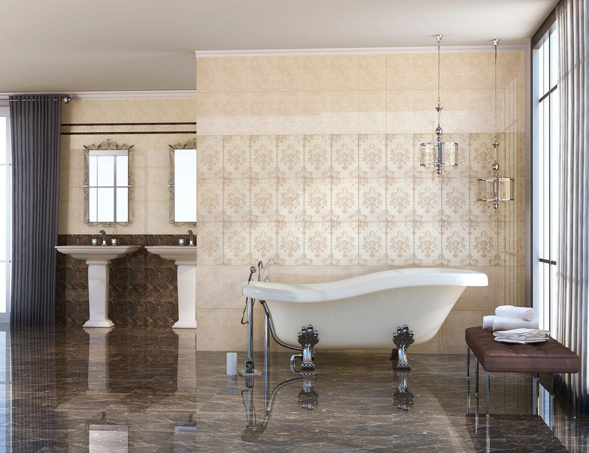 Indoor tile / bathroom / floor / porcelain stoneware - CONSTANZA ...