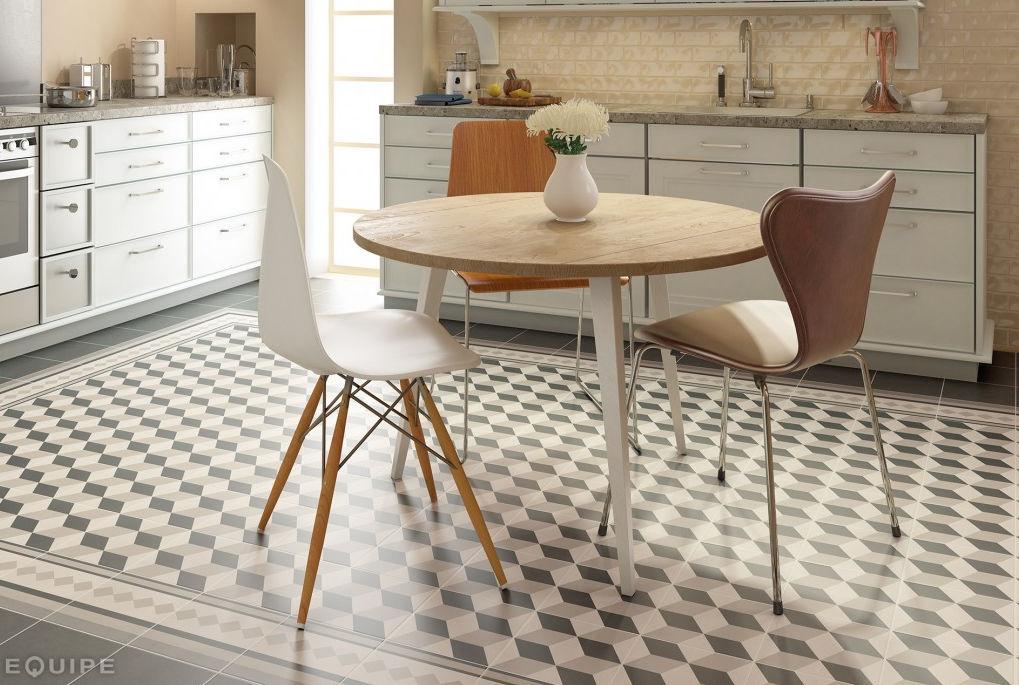 Indoor mosaic tile / kitchen / floor / porcelain stoneware - CAPRICE ...