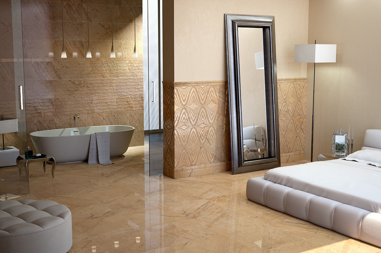 Bathroom Tile Floor Porcelain Stoneware High Gloss Daino