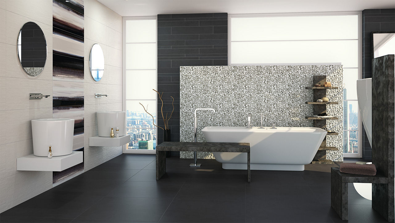 Bathroom tile / wall / porcelain stoneware / matte - JAZZ - Fanal