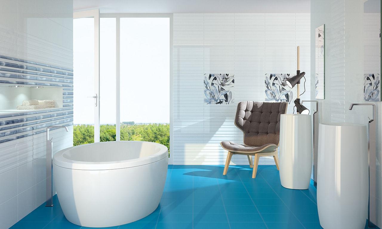Indoor tile / floor / porcelain stoneware / floral - ALLEGRO - Fanal