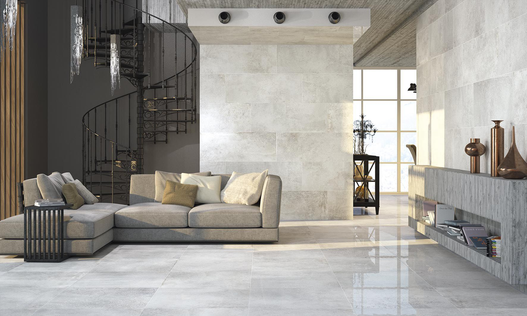 Living room tile floor porcelain stoneware high gloss living room tile floor porcelain stoneware high gloss cevisama atlas dailygadgetfo Images