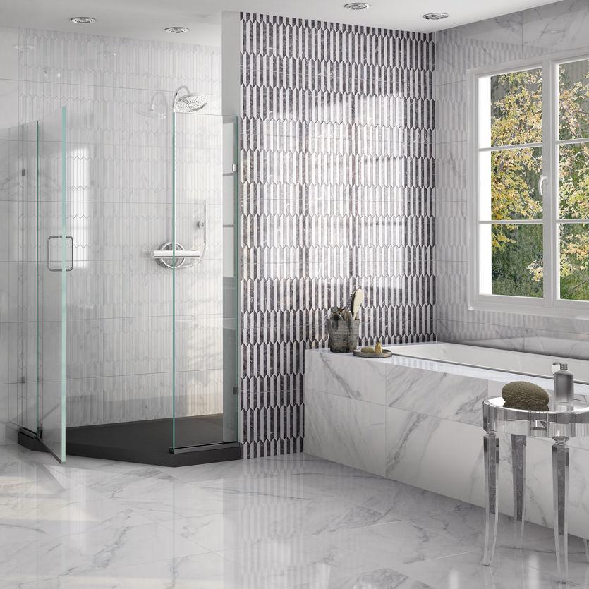 Bathroom Tile Wall Porcelain Stoneware Geometric Pattern