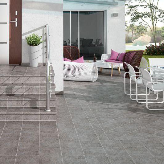 Outdoor Tile Floor Ceramic Rectangular Fuji Gresmanc