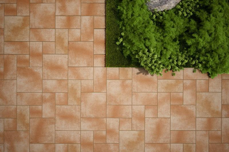 Ceramic Flooring Contract Tile Orange Duna Gresmanc
