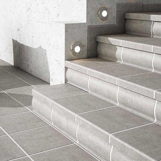 Indoor Tile Floor Ceramic Rectangular Grey Gresmanc