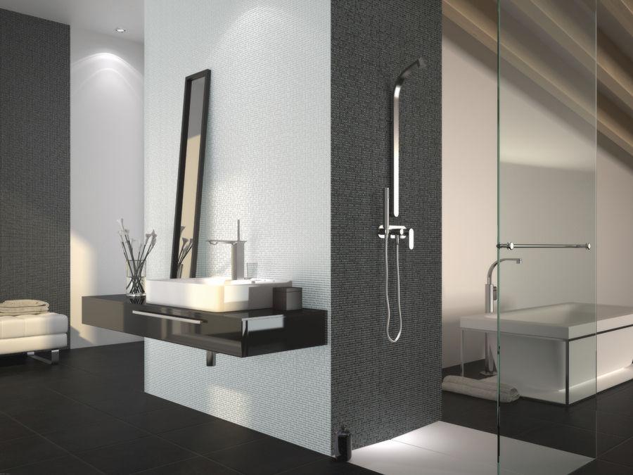 Indoor tile / bathroom / wall / glass - PEARL BATHROOM - Vidrepur ...