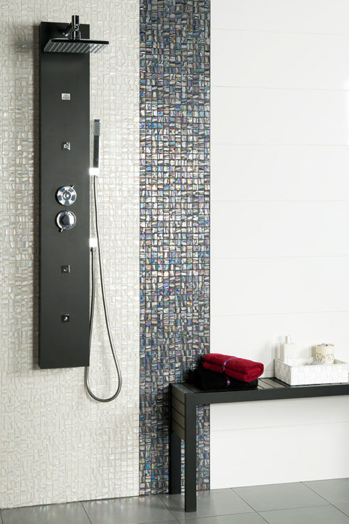 Bathroom Tile Ideas Mosaic indoor mosaic tile / bathroom / wall / glass - moon 25x25