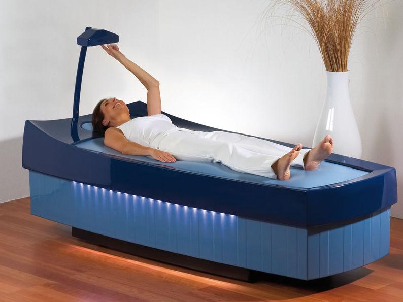 Fixed massage table / height-adjustable / wet - AQUATHERMOJET ...