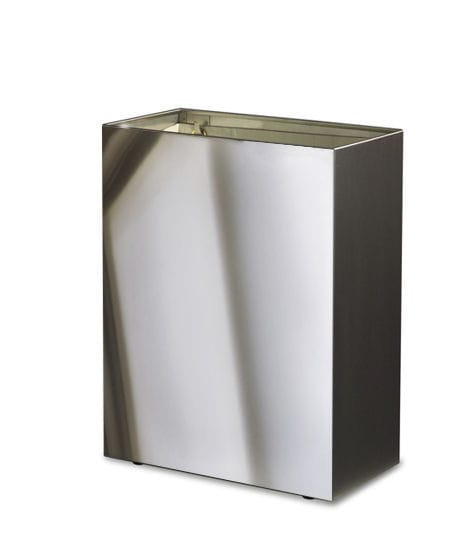 Hygienic Trash Can Wall Mounted Stainless Steel Commercial 09 1148