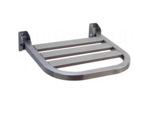 Folding shower seat / stainless steel / wall-mounted - 08.2410 ...