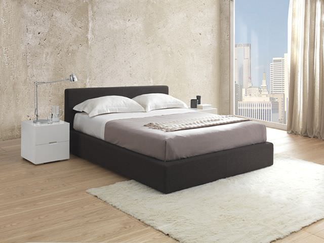 ... double bed / contemporary / with in-base storage / upholstered ... & Double bed / contemporary / with in-base storage / upholstered ...