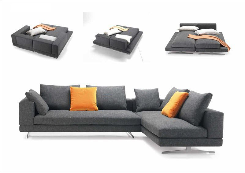 Sofa Bed Modular Contemporary Fabric