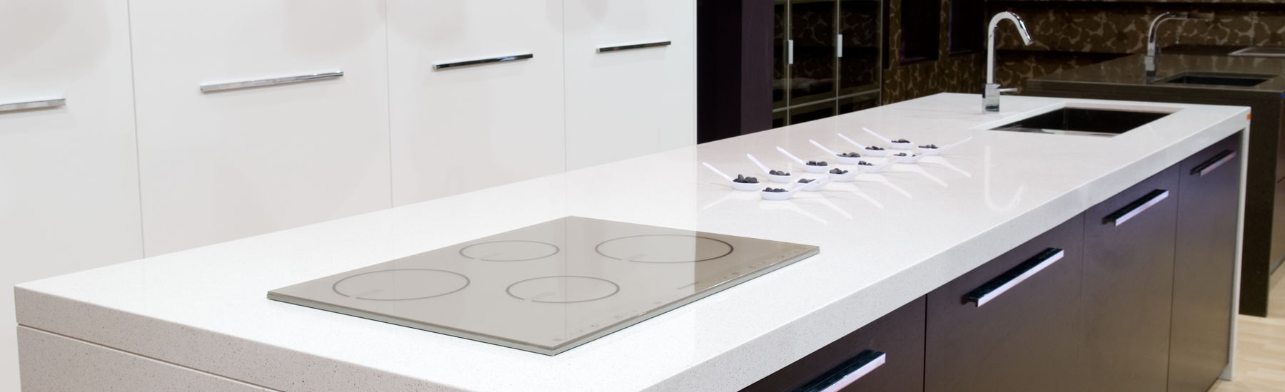 Quartz Composite Countertop / Kitchen SNOW COMPAC The Surfaces Company ...