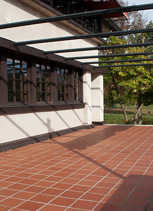 Outdoor tile / for floors / terracotta / polished - PROMENADE 9x9 ...