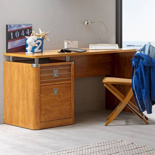 Steel Desk / Particle Board / Traditional / With Storage   MAJESTIC