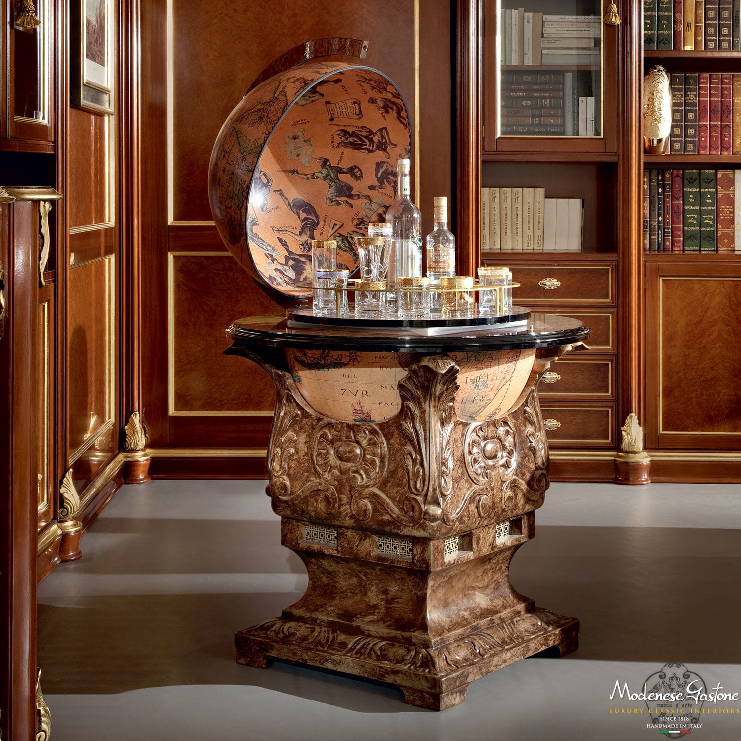 Globe Bar Table Images Decoration Ideas Clic Cabinet Wooden Bella Vita Modenese