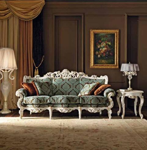 Classic Sofa / Fabric / For Hotels / 3 Seater   VILLA VENEZIA : 11412