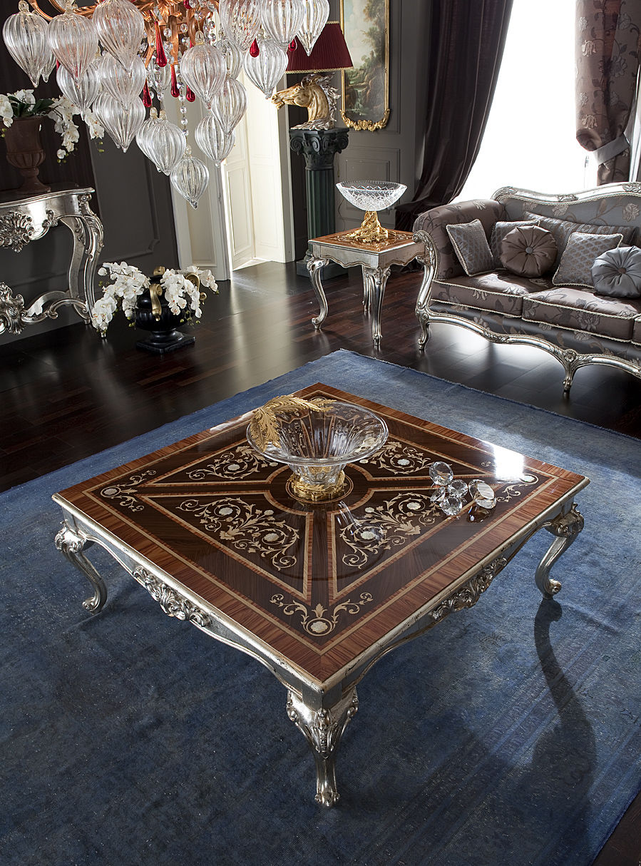 Classic Coffee Table / Wooden / Metal / Marble   CASANOVA