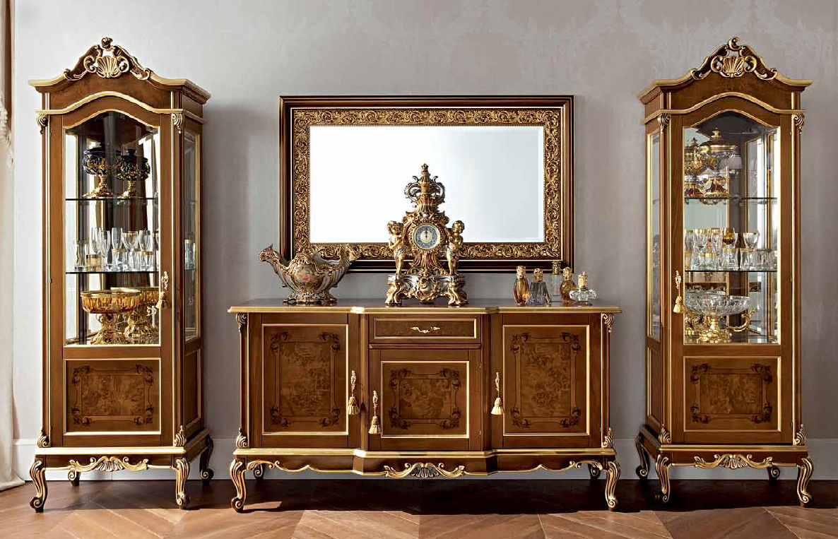 Sideboard with long legs classic wooden CASANOVA 12105