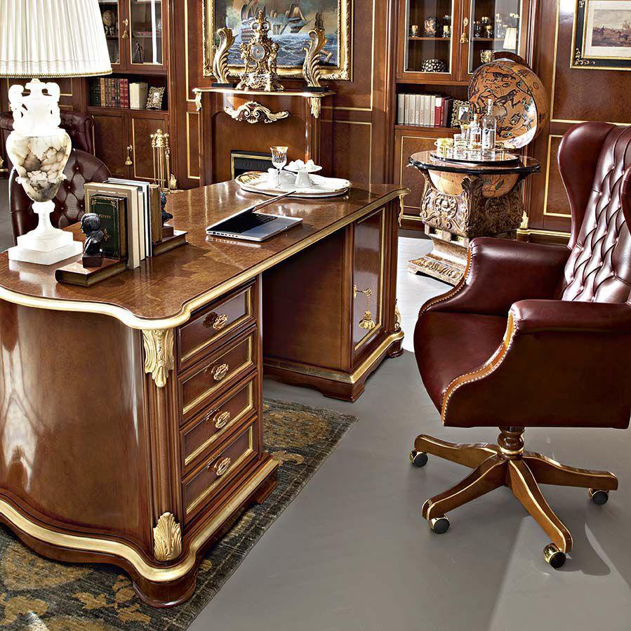 Wooden Desk Classic Bella Vita Modenese Gastone Luxury