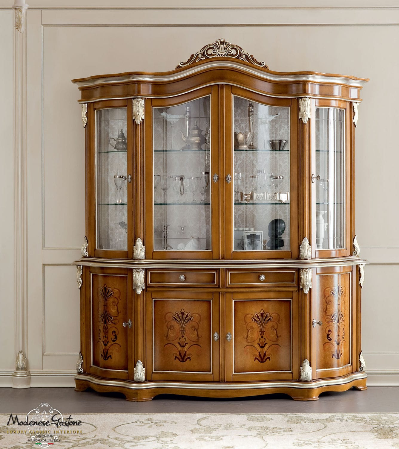 ... Classic China Cabinet / Glass / Wooden BELLA VITA Modenese Gastone  Luxury Classic Furniture ...
