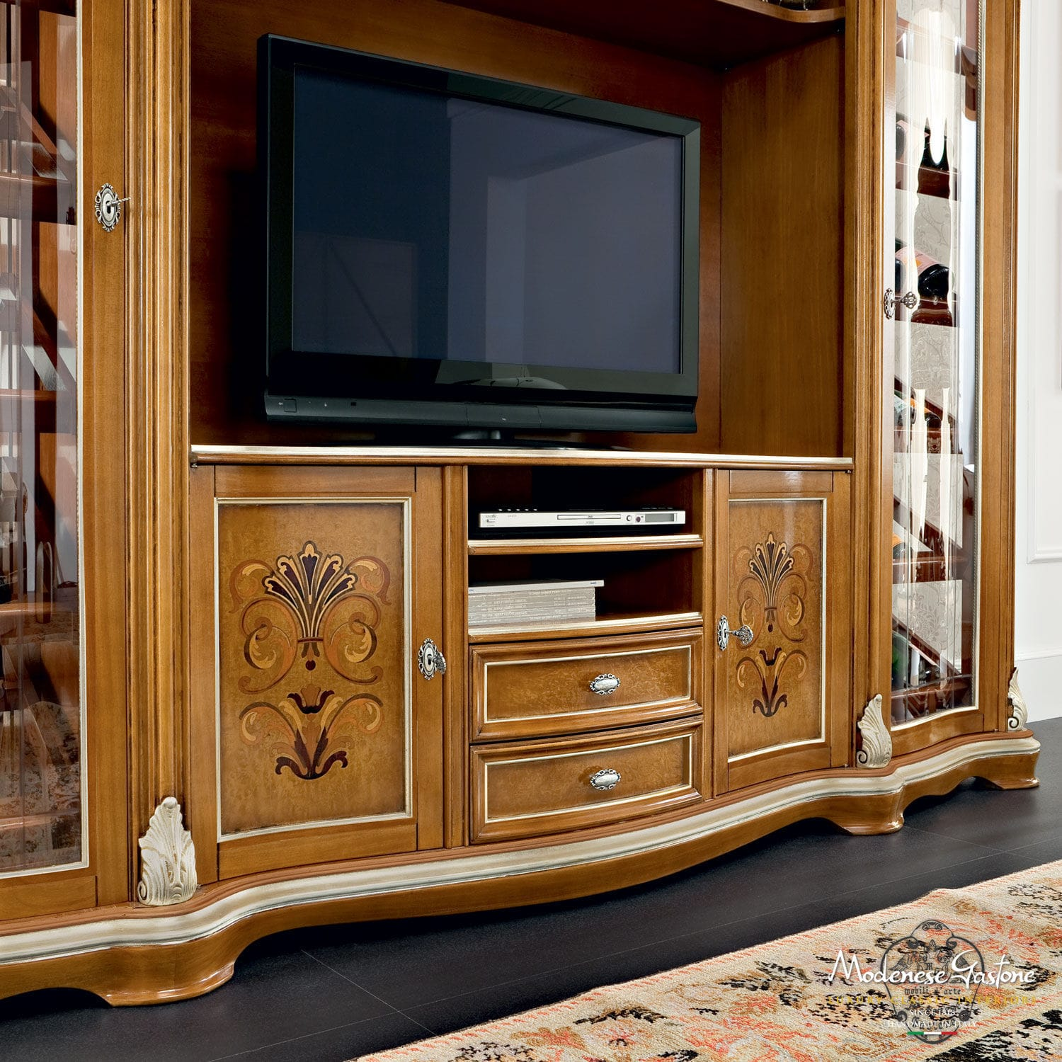 luxury wooden furniture storage. Classic TV Cabinet / Solid Wood BELLA VITA Modenese Gastone Luxury Furniture Wooden Storage O