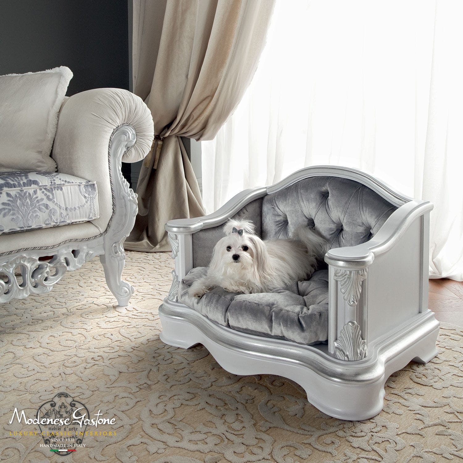 luxury pet furniture. classic armchair wooden pet dogs and cats bella vita modenese gastone luxury furniture p