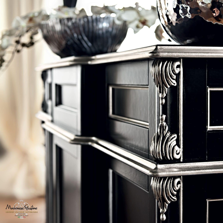 Classic Bar Cabinet / Wooden / Black ...