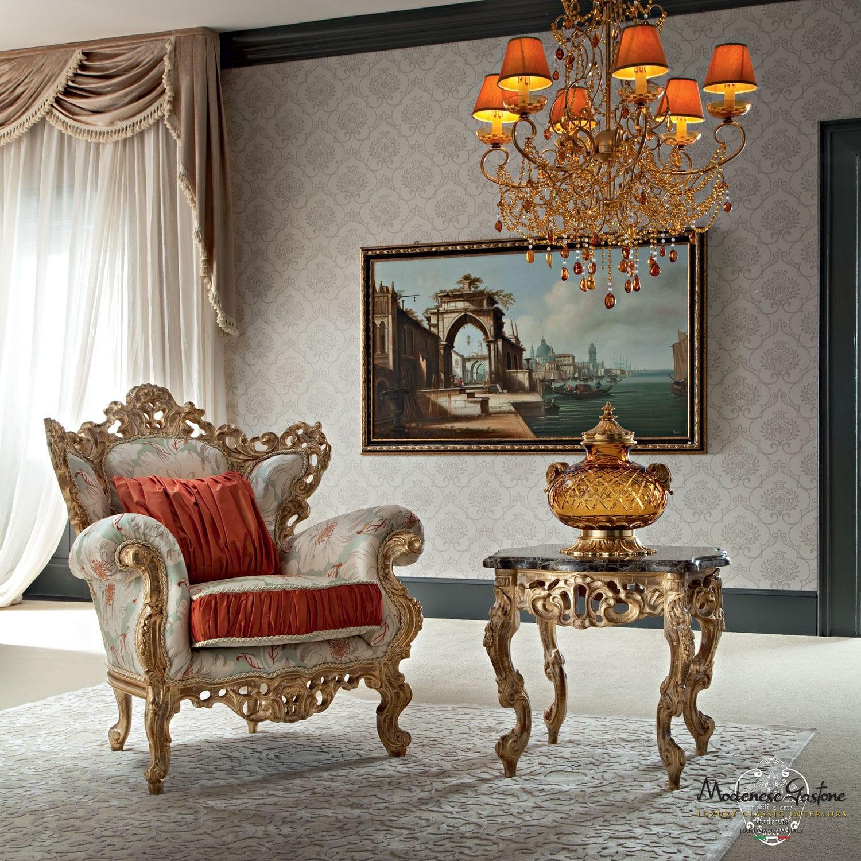 Antique high back chairs -  Classic Armchair Fabric High Back Casanova Modenese Gastone Luxury Classic Furniture