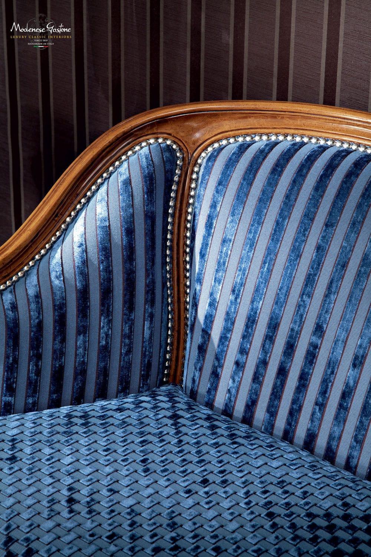 ... Classic Sofa / Fabric / 2 Person / Blue