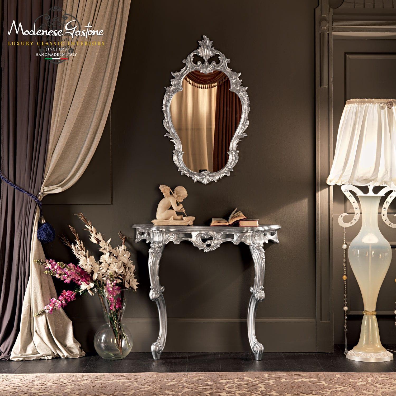 Classic Sideboard Table / Wooden / With Mirror. VILLA VENEZIA Modenese  Gastone Luxury Classic Furniture