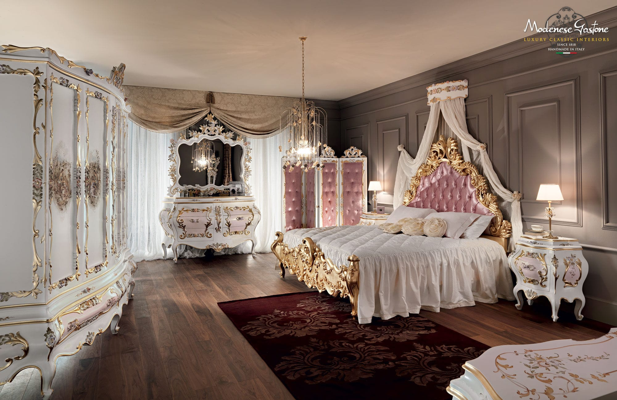 ... Double Bed / Classic / With Upholstered Headboard / Solid Wood