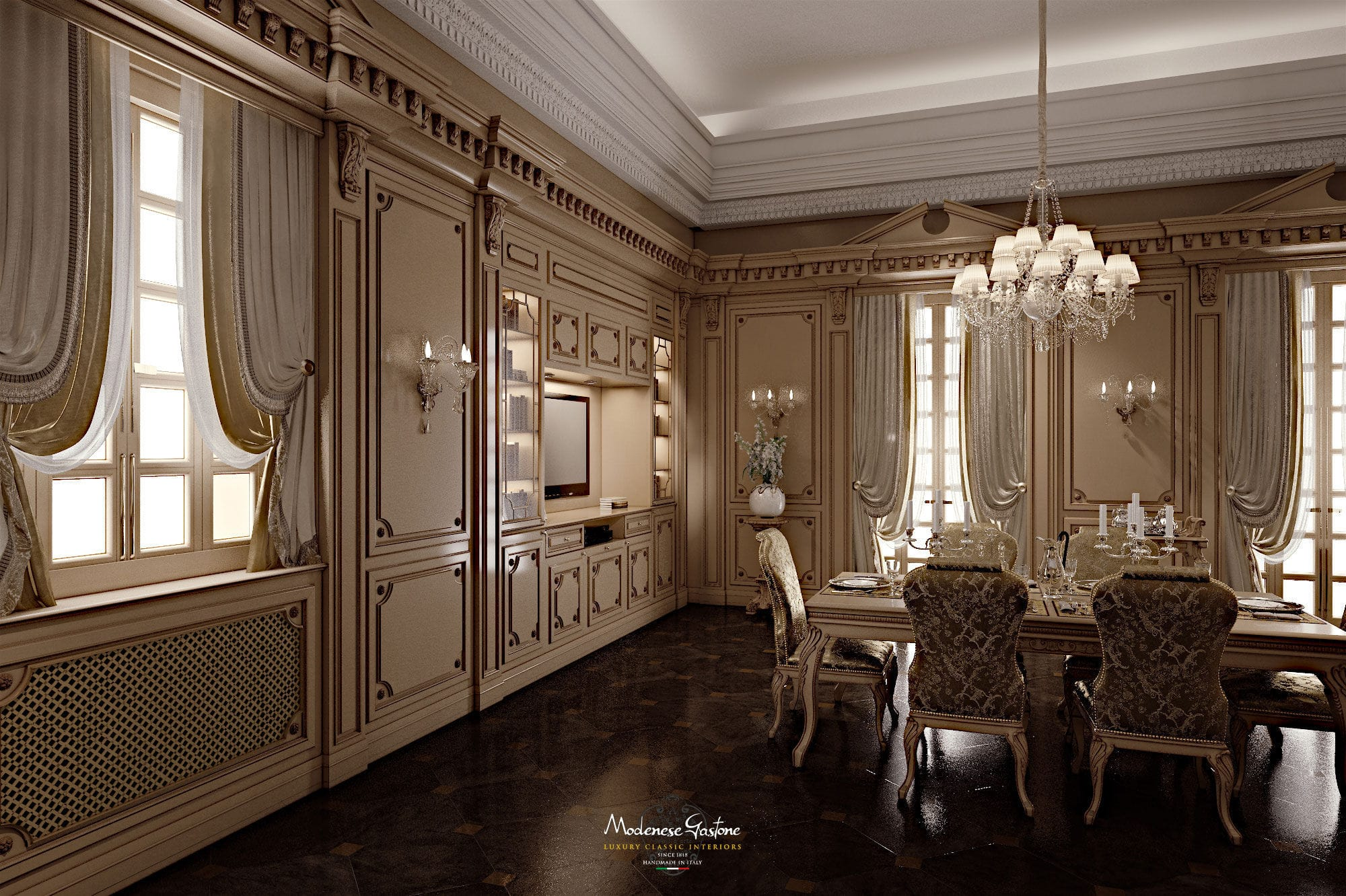 Classic Kitchen Classic Kitchen Wooden Lacquered Romantica Modenese
