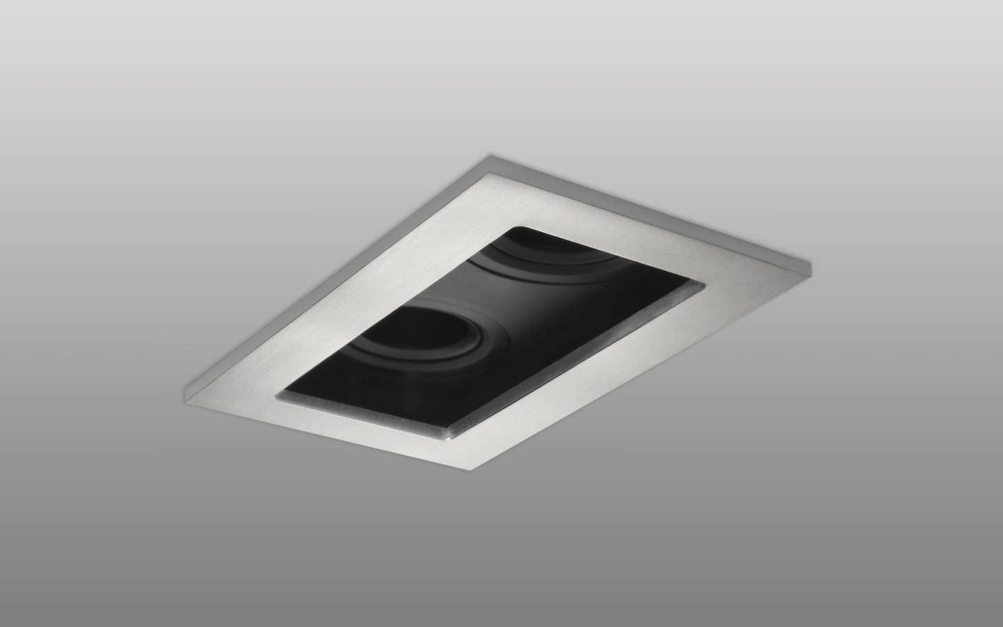 Recessed ceiling spotlight / indoor / halogen / LED - TWIN SQUARE ... for Ceiling Spot Light Square  113cpg